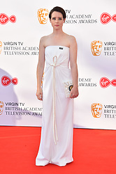 Claire Foy attending the Virgin TV British Academy Television Awards 2018 held at the Royal Festival Hall, Southbank Centre, London.