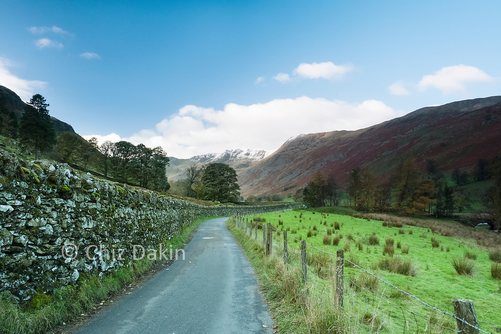 Looking up towards the Nethermost Pike (Helvellyn) from the lane into Grisedale