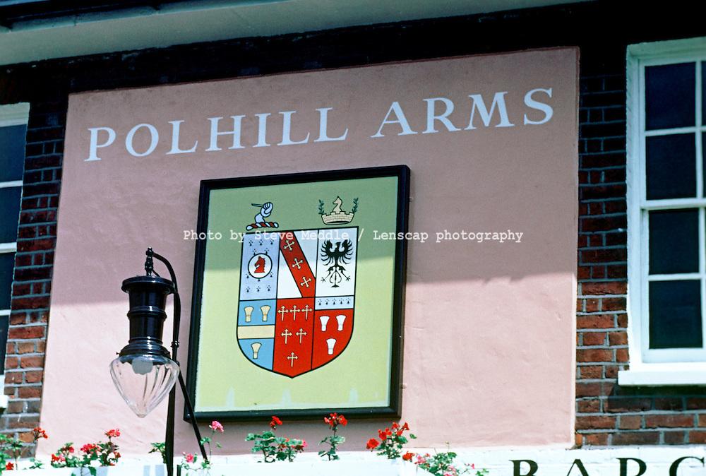 Pub Signs, The Polhill Arms, Halstead, Kent, Britain