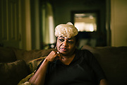 """LOWNDES COUNTY, AL – JULY 10, 2017: Ruby Dee Rudolph, 66, noticed her septic tank was slowly sinking unevenly into the ground, and has endured several instances of sewage backing up into her house through the toilet and bathtub, which is a common problem in her neighborhood. """"Late at night, you can smell it,"""" Rudolph said. """"I would have thought by now these systems would have been fixed, but they're not.""""<br /> <br /> A recent study conducted by Baylor University suggests that nearly one 1 in 3 people in Lowndes County have hookworm, a parasite normally found in poor, developing countries. Below ground septic tanks are common in Lowndes, but due to the chalky clay soil throughout much of the Black Belt, septic tanks are prone to backing up into people's homes during heavy rains. With failing or absent municipal sewage systems in the county, many families choose to live with open, above ground sewer systems made from PVC pipe, which pump raw sewage into nearby streams or open land."""