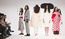 © Licensed to London News Pictures. 31/05/2015. London, UK. Collection by Joanne Chiu. Fashion show of the University of Salford at Graduate Fashion Week 2015. Graduate Fashion Week takes place from 30 May to 2 June 2015 at the Old Truman Brewery, Brick Lane. Photo credit : Bettina Strenske/LNP