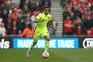 Brighton central defender, Connor Goldson (17)  during the Sky Bet Championship match between Middlesbrough and Brighton and Hove Albion at the Riverside Stadium, Middlesbrough, England on 7 May 2016. Photo by Simon Davies.