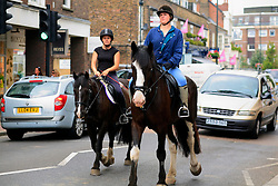 """UNITED KINGDOM WIMBLEDON 26JUN09 - General view of horse riders in Wimbledon Village, Boris Becker's new home in London. The newlyweds Boris Becker & Sharlely """"Lilly"""" Kerssenberg have recently moved into a 6-million pound property in Burghley Road, Wimbledon, London...jre/Photo by Jiri Rezac..© Jiri Rezac 2009"""