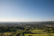 Panoramic view of Cheltenham Spa Town from Wistley Hill