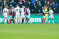 Football - 2017 / 2018 Premier League - Swansea City vs. West Ham United<br /> <br /> both teams scuffle after the injury to Winston Reid of West Ham United, at the Liberty Stadium.<br /> <br /> COLORSPORT/WINSTON BYNORTH