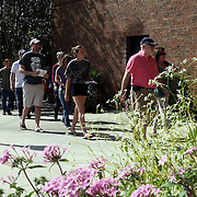 Voters turn out for an extended early voting session at the Winter Park Public Library in Winter Park, Florida on Sunday, November 4, 2012. A Florida judge granted extended early voting hours after two suspicious devices closed the Winter Park Library for several hours Saturday. (AP Photo/Alex Menendez)