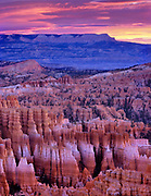 Dawn from Inspiration Point, Bryce Canyon, National Park, Utah