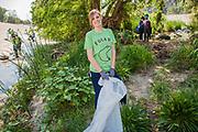 La Gran Limpieza, FoLAR River clean-up April 11, 2015, Los Angeles River, Glendale Narrows, Los Angeles, California, USA