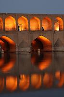 The Si-o-Seh Bridge, Esfahan, Iran