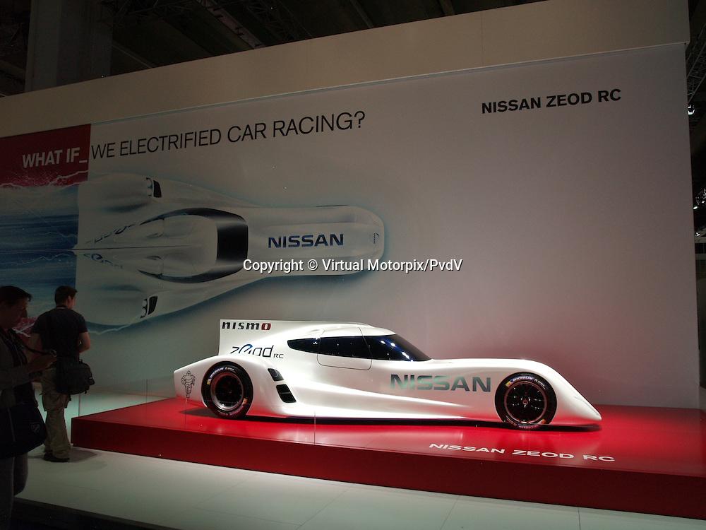 Nissan Zeod RC, electric race car at the IAA 2013, Frankfurt, Germany