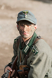 Reenactors Portray panzer grenadiers from the elite Großdeutschland Division during the Pickering 1940s weekend in North Yorkshire<br /> October 2011 <br /> © Paul David Drabble
