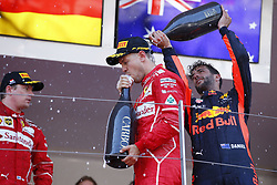 May 28, 2017 - Monte Carlo, Monaco - Motorsports: FIA Formula One World Championship 2017, Grand Prix of Monaco, .#5 Sebastian Vettel (GER, Scuderia Ferrari), #3 Daniel Ricciardo (AUS, Red Bull Racing) (Credit Image: © Hoch Zwei via ZUMA Wire)
