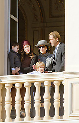 November 19, 2017 - Monte Carlo, MONACO - 19-11-2017 Monaco Andrea Casiraghi, Princess Caroline of Hanover and Charlotte Casiraghi and Raphael and Sacha Casiraghi during the Monaco National Day Celebrations in Monaco...© PPE/NieboerCredit: PPE/face to face.- No rights for the Netherlands  (Credit Image: © face to face via ZUMA Press)