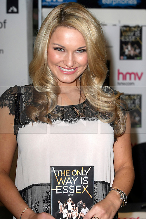 © under license to London News Pictures. 28/03/11.Sam Faiers.  'The Only Way Is Essex' cast promote and sign copies of their new DVD at HMV in Lakeside mall. Essex, England. Photo credit should read Andy Barnes/LNP