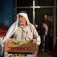 At the green grocer, Bethlehem, the West Bank.