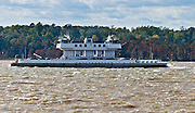 The Jamestown-Scotland Ferry carries State Route 31 across a navigable portion of the James River in Virginia, USA. Free passage for automobiles and buses. Tourists heading for Virginia's Historic Triangle of colonial attractions (Jamestown, Colonial Williamsburg, and Yorktown) and the Colonial Parkway often approach the area from the south by water with a ride aboard one of the Jamestown Ferries.