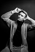 Studio portrait of a male fashion model. Photo by Brandon Alms Photography