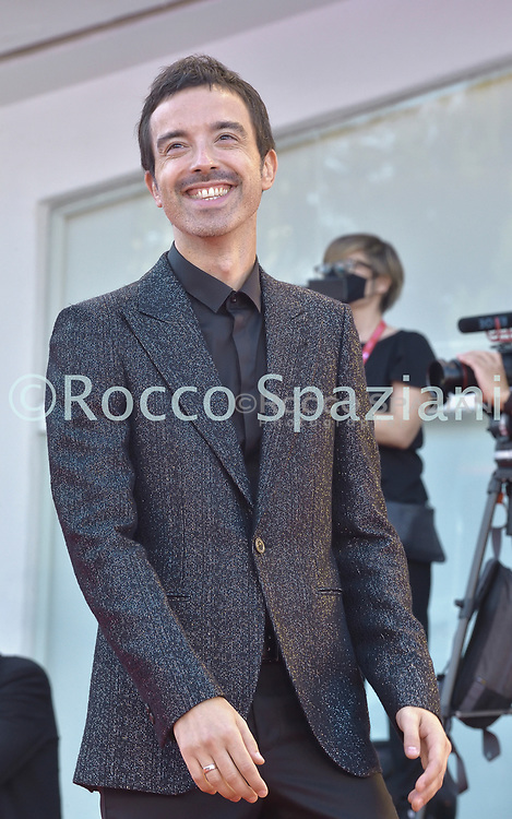 VENICE, ITALY - SEPTEMBER 12:Diodato walk the red carpet ahead of closing ceremony at the 77th Venice Film Festival on September 12, 2020 in Venice, Italy.<br /> (Photo by Rocco Spaziani)