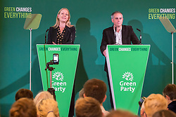 October 5, 2018 - Bristol, Bristol, UK - Bristol, UK. Green Party Autumn Conference, held at Bristol City Hall. Co-leaders SIAN BERRY and JONATHAN BARTLEY. The key note speech by Co-leaders Sian Berry and Jonathan Bartley. (Credit Image: © Simon Chapman/London News Pictures via ZUMA Wire)