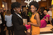 COMFORT NSEK; SYLVIA CHUKU, Louise Roe: Front Roe - book launch party. Ralph Lauren. New Bond St. London. 1 April 2015