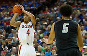 Trey Hall (4) of South Grand Prairie hits a three-pointer against Cibolo Steele during the UIL Conference 5A semifinals at the Frank Erwin Center in Austin on Friday, March 8, 2013. (Cooper Neill/The Dallas Morning News)