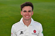 Head shot of Nathan Gilchrist of Somerset during the 2019 media day at Somerset County Cricket Club at the Cooper Associates County Ground, Taunton, United Kingdom on 2 April 2019.