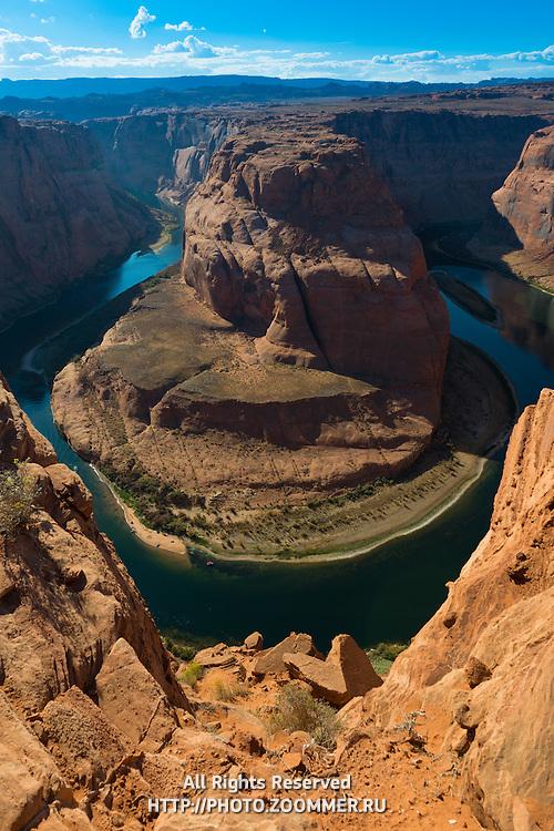 Horseshoe Bend and Colorado River, Arizona, USA