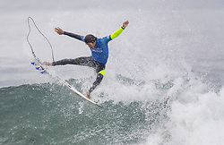 September 15, 2017 - San Onofre, California, USA - Kanoa Igarashi of Huntington Beach gets some air as he surfs against Filipe Toledo of Brazil in the quarterfinals of the Hurley Pro at Trestles held at San Onofre State Beach on Friday, August 15, 2017. Toledo defeated Igarashi and went on to win the competition. (Credit Image: © Mark Rightmire/The Orange County Register via ZUMA Wire)