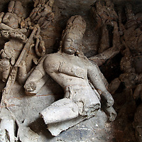 Asia, India, Mumbai. Elephanta Island Caves, a UNESCO World Heritage Site.