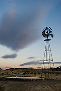 Windmill pumping water in northeast New Mexico