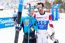 April 6, 2018 - Alta, NORWAY - 180406 Sjur RÂ¿the and Hans Christer Holund after the Men's 10 km Classic during the Norwegian Championship on April 6, 2018 in Alta..Photo: Jon Olav Nesvold / BILDBYRN / kod JE / 160236 (Credit Image: © Jon Olav Nesvold/Bildbyran via ZUMA Press)