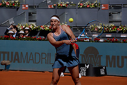 May 5, 2019 - Madrid, Spain - Dominika Cibulkova of Slovakia in her match against Naomi Osaka of Japan during day two of the Mutua Madrid Open at La Caja Magica in Madrid on 5th May, 2019. (Credit Image: © Juan Carlos Lucas/NurPhoto via ZUMA Press)