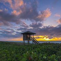 South Florida sunrise photography of a lifeguard tower on Delray Beach in Palm Beach County, FL. This Florida beach photography image is available as museum quality photography prints, canvas prints, acrylic prints or metal prints. Fine art prints may be framed and matted to the individual liking and decorating needs:<br /> <br /> https://juergen-roth.pixels.com/featured/florida-juergen-roth.html<br /> <br /> All Delray Beach lifeguard tower Florida photography pictures available for digital and print image licensing at www.RothGalleries.com. Please contact me direct with any questions or request.<br /> <br /> Good light and happy photo making!<br /> <br /> My best,<br /> <br /> Juergen<br /> Prints: http://www.rothgalleries.com<br /> Photo Blog: http://whereintheworldisjuergen.blogspot.com<br /> Twitter: @NatureFineArt<br /> Instagram: https://www.instagram.com/rothgalleries<br /> Facebook: https://www.facebook.com/naturefineart