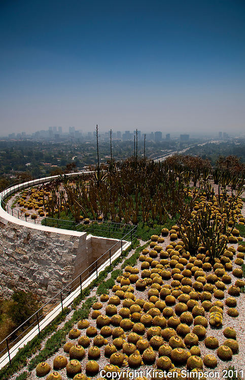 The Getty Centre Gardens in LA
