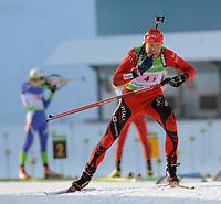 Skiskyting<br /> IBU World Cup<br /> Oberhof Tyskland<br /> 07.01.2010<br /> Foto: imago/Digitalsport<br /> NORWAY ONLY<br /> <br /> IBU World Cup Biathlon Staffel - Männer / 4 x 7.5 km Halvard Hanevold (NOR)