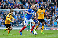 Portsmouth Defender, Jack Whatmough (16) makes a run during the EFL Sky Bet League 2 match between Portsmouth and Cambridge United at Fratton Park, Portsmouth, England on 22 April 2017. Photo by Adam Rivers.