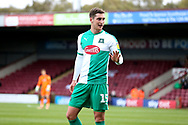 Plymouth Argyll midfielder Conor Grant (15)  during the EFL Sky Bet League 1 match between Scunthorpe United and Plymouth Argyle at Glanford Park, Scunthorpe, England on 27 October 2018. Pic Mick Atkins