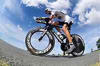 CYCLING - TOUR DE FRANCE 2010 - PAUILLAC (FRA) - 24/07/2010 - PHOTO : VINCENT CURUTCHET / DPPI - <br /> STAGE 19 - INDIVIDUAL TIME TRIAL - ANDY SCHLECK (LUX) / SAXO BANK / WHITE JERSEY