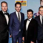 NLD/Amsterdam/20150119 - Premiere film Homies, Ferdi Stofmeel, Yannick van der Velden, Geza Weisz en Jim Deddes