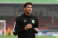 Omar Sowunmi (17) of Yeovil Town warming up before the EFL Sky Bet League 2 match between Swindon Town and Yeovil Town at the County Ground, Swindon, England on 10 April 2018. Picture by Graham Hunt.