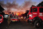 42 Prison Guards killed on bus as huge forest fire rages on the Carmel Mountain South of Haifa.