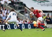 Wales' George North takes on Elliot Daley during the The Old Mutual Wealth Cup match England -V- Wales at Twickenham Stadium, London, Greater London, England on Sunday, May 29, 2016. (Steve Flynn/Image of Sport)