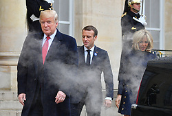 US President Donald Trump leaving the Elysee Palace in Paris on November 10, 2018 following bilateral talks on the sidelines of commemorations marking the 100th anniversary of the 11 November 1918 armistice, ending World War I. Photo by Christian Liewig/ABACAPRESS.COM