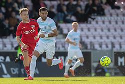 David Boysen (FC Helsingør) under kampen i 1. Division mellem FC Fredericia og FC Helsingør den 4. oktober 2020 på Monjasa Park i Fredericia (Foto: Claus Birch).