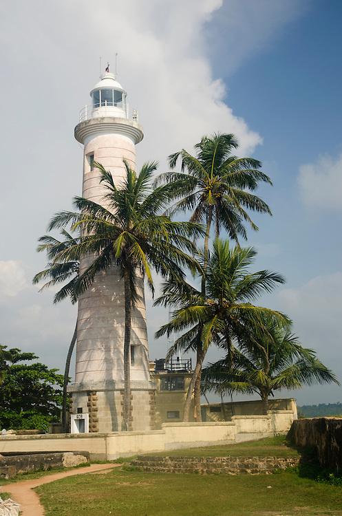 Lighthouse in Galle Fort, the old Dutch quarter, Sri Lanka