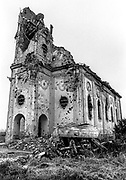 All that remains. Hungarian Reformed Church, Laslovo/Szentlászló, Croatia.<br /> Built in 1878, destroyed in October 1991.