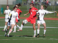 Yorktown, New York - Rye plays Somers in the Section 1 girls' soccer Class A championship game at Yorktown High School on Sunday, Nov. 7, 2010.