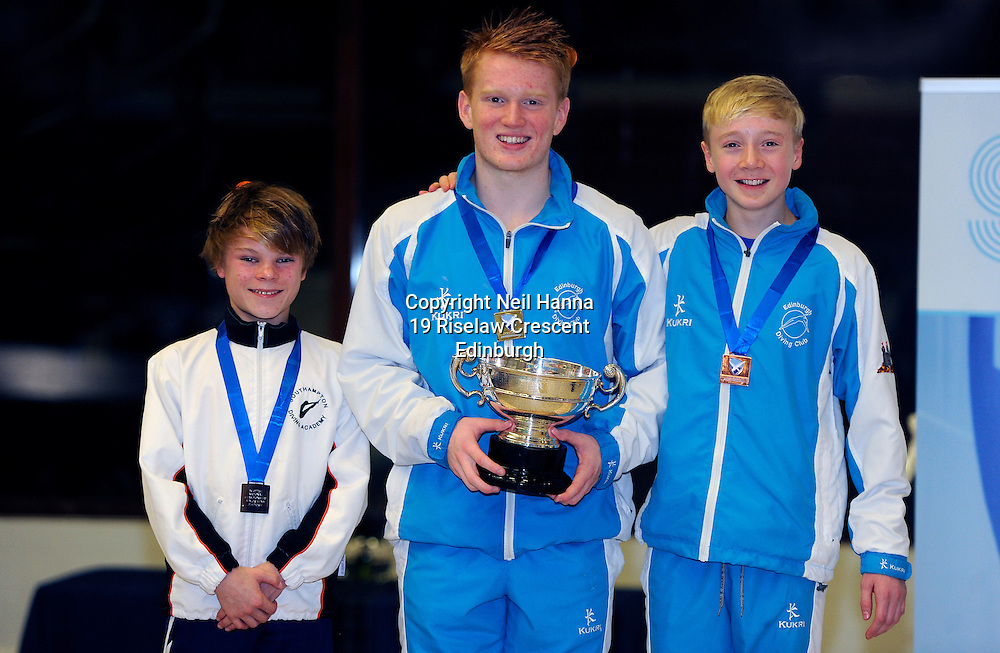 Scottish National Diving Championships & Thistle Trophy 2015<br /> <br /> Event 18 Men's Boys Platform Final<br /> <br /> Royal Commonwealth Pool, Edinburgh<br /> <br /> <br />  Neil Hanna Photography<br /> www.neilhannaphotography.co.uk<br /> 07702 246823
