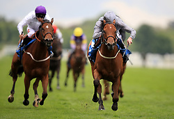 Main Desire ridden by Daniel Tudhope (right) wins The Langleys Solicitors British EBF Marygate Fillies' Stakes during day two of the Dante Festival at York Racecourse.