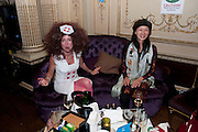 NICOLE TREHY; SPACY GRACY,  Philip Sallon's mass paranoia swine flu birthday party. DRESS: DISEASE RELATED OR SWINE, Home House. Portman Sq. London. 13 November 2009.